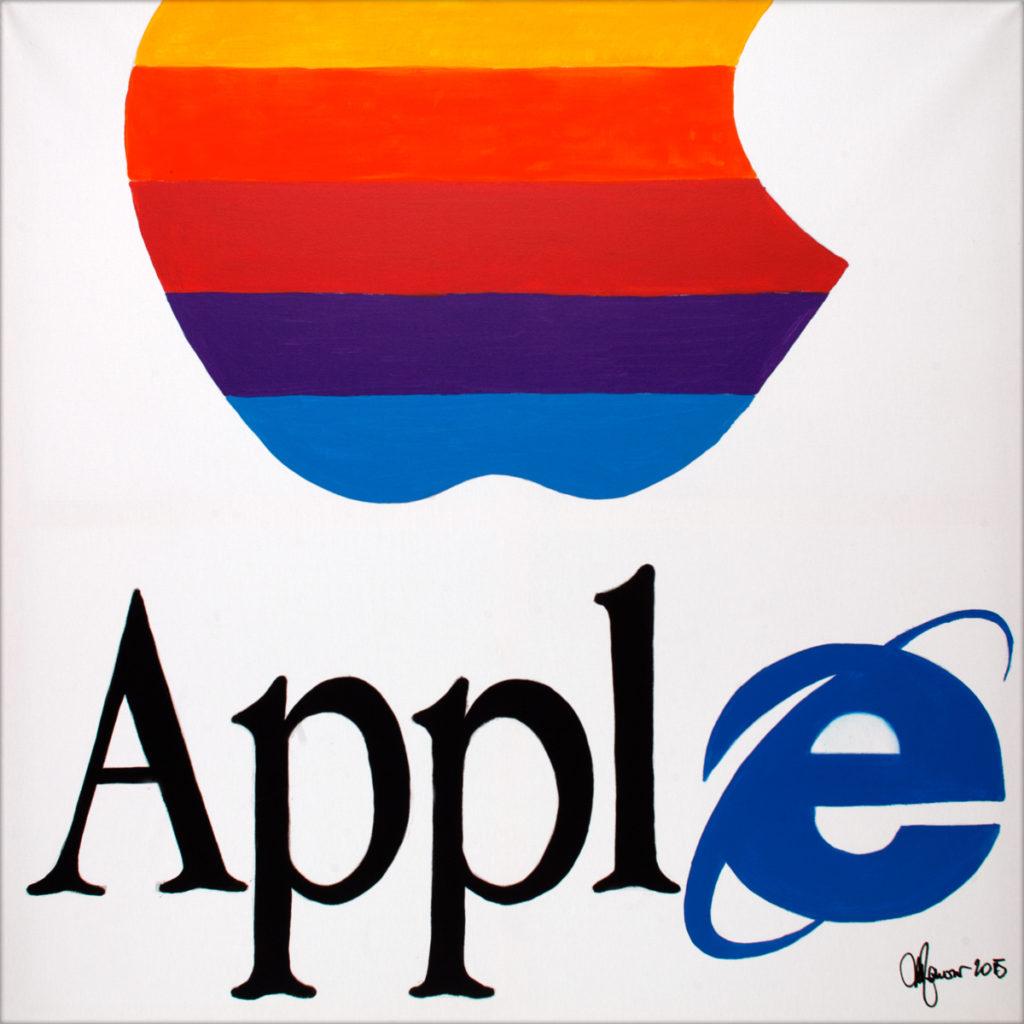 Apple-AcrylicOnCanvas-TechnoFood2015-Michele Zanoni