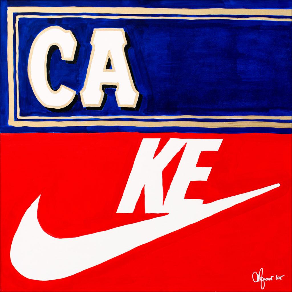 Cake-AcrylicOnCanvas-TechnoFood2015-Michele Zanoni