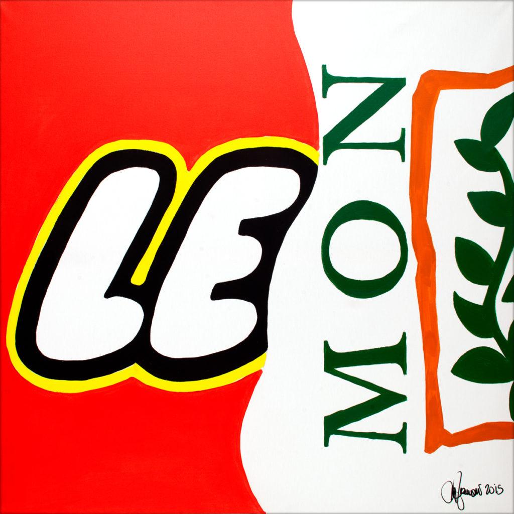 Lemon-AcrylicOnCanvas-TechnoFood2015-Michele Zanoni