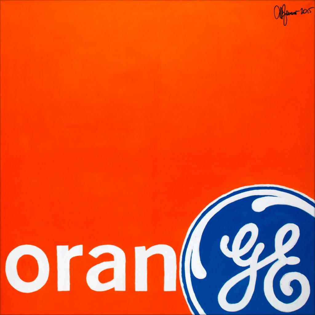 Orange-AcrylicOnCanvas-TechnoFood2015-Michele Zanoni